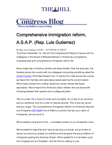 Immigration Reform - CIR ASAP