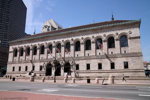 Boston Public Library - Dartmouth Street entrance