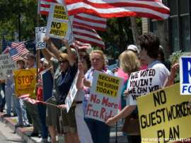 Anti-Immigration Tea Party Protest