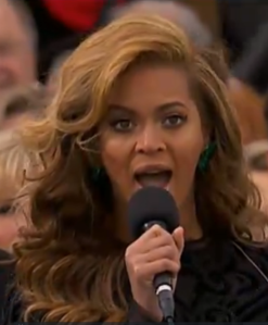 Beyonce - sings at inauguration.