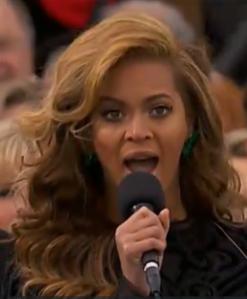 Beyonce - sings at inauguration.