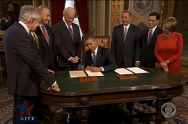 First actions of 2nd term: Obama signs official documents